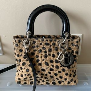 AUTHENTIC CHRISTIAN DIOR LEOPARD LADY DIOR BAG
